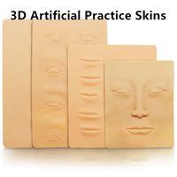 Folha macia da pele da prática da tatuagem 3D para a fonte da máquina da agulha da tatuagem Kit de composição semi permanente coreano Microblading