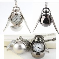 Vintage Harry Potter Big wings Pocket Watch Necklace Chain W...