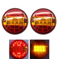 2Pcs Waterproof Tail Lamp Constant Voltage Led Rear Round Ta...