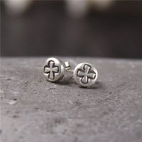 designer jewelry fashion cross 925 sterling silver stud earr...