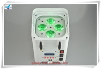 10 luces con 1 caja 4x12w wifi batería uplights rgbaw uv 6in1 led par luz plana