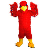 2018 New alta qualidade Red Eagle Bird trajes da mascote para adultos de natal de circo Halloween Outfit Fancy Dress Suit Free Shipping003