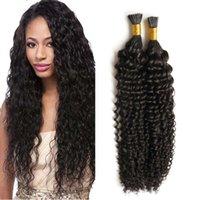 브라질 곱슬 레미 I 팁 사전 결합 된 인간의 머리카락 확장명 100 % 인간의 융합 스틱 사전 본딩 된 머리 확장 각질