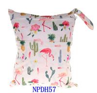 Животных печатных детские молнии мокрой/сухой мешок пеленки - водонепроницаемый мокрой и сухой ткани пеленки сумки мокрый купальник мешок WetBag 33*28 см