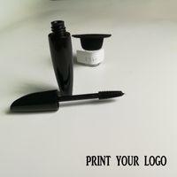 No hay logotipo 3D a prueba de agua negro rímel crema crema alargamiento espeso ojo negro belleza maquillaje rímel delineador de ojos bienvenida personalizada