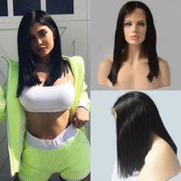7A Short Bob Human Hair Lace Front Wig Brazilian Virgin Glue...