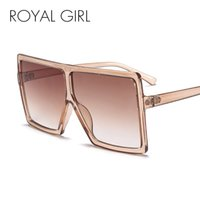 ROYAL GIRL Oversize Sunglasses Women Big Frame Flat Top Occhiali da sole Uomo 2018 New Designer Vintage Square Gradient Shades ss639