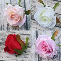 Rose Köpfe künstliche Blumen Dia 9cm Faux Seide Rosen Köpfe nach Hause Hochzeit Dekorationen DIY Hochzeit Girlande