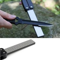 Superior Diamond Knife Sharpener Stone For Camping Double Si...