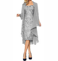 Mother of The Bride Dresses Two Pieces Chiffon Jackets Sheat...