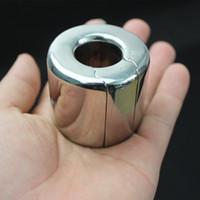 10 dimensioni in acciaio inox metallo pene cazzo anello pendente scroto ciondolo castità gabbia castità dispositivi ciondolo anello scroto, giocattolo del sesso, b84