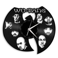 Wu Tang Hip Hop Band Souvenir vinile moda orologio da parete Home Decor Wall Art Clock (Dimensioni: 12 pollici, Colore: Nero)