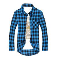 Moda Erkekler Ekose Gömlek Camisas Sosyal Sonbahar erkek Moda Ekose Uzun Kollu Iş Gömlek Erkek Düğme Aşağı Rahat Onay Gömlek