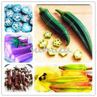 100 pçs / saco sementes de quiabo, quiabo plantio, herança biológica deliciosa saudável frutas vegetais sementes, doce para cozinhar, planta para casa jardim