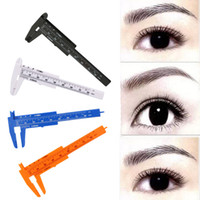 16 teile / los Microblading Wiederverwendbare Makeup Messen Augenbraue Guide Lineal Permanent Werkzeuge 80mm Tattoo Zubehör Augenbraue Positionierlineal