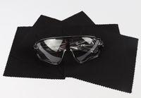13x13cm noir lunettes de soleil en tissu microfibre lunettes de lecture chiffon de nettoyage pour étui à lunettes lunettes 100pcs / boîte 5boxes / lot
