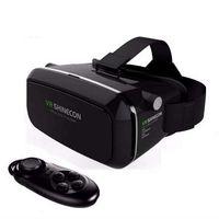 Vendas quentes! nova shinecon vr google vr com fones de ouvido vr realidade virtual óculos 3d para 4,5 - smartphones 6,0 polegadas