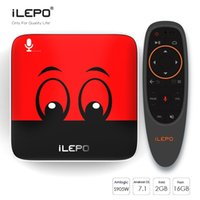 iLEPO i18 Google Voice Control Android TV Box Amlogic S905W 2GB 16 ГБ Android 7.1 Поддержка Smart Media Player Stalker 2.4G Лучше X96 TX3 mini