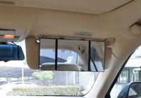 للطي سيارة الشمس قناع التجميل مرآة كبيرة الحجم مرآة ماكياج قابل للتعديل للسيدات مع الشريط حلقة هوك
