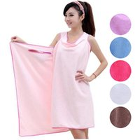 6 Colors 150*80cm Microfiber Towel Bathrobes Women Clothing ...