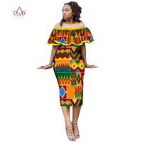 Robes africaines pour femmes style africain imprimer plus la taille parti robes à volants dames club sexy robe off devrait 1818 $