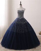 New Real Photo Quinceanera Dresses Ball Gown Beaded Lace Up ...