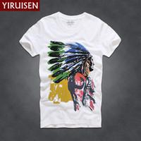 رجل t قميص أزياء شخصية yiruisen ماركة الرجال قصيرة الأكمام تي شيرت الرجال عارضة 100٪ ٪ الزى قمم camisetas hombre camisa