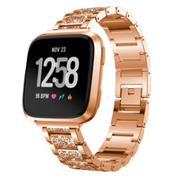 Fitbit Versa Bands Metal Bracelet Full Diamond Lady Style Ve...