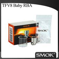 Autêntico SMOK V8 Bebê RBA Cabeça de Bobina com Pirex Tubo De Vidro para TFV8 Bebê Besta Tanque SMOK V8 Bebê Rebuildable Cabeça Atomizador