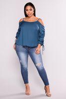 Women Hip Lift Pants Big Yard Brazilian Style Skinny Leggings Pencil Slim JeansDark Blue Broken On Knee Trousers