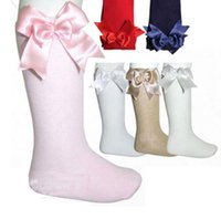 Baby Girls Knee High Socks Kid Children Cute Lace Bows Princ...