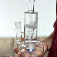 Heiße hochwertige glas bong glas pfeife wasserpfeife bongs mit 1 kleinen tubine perc 11 zoll groß 19mm weibliche joint (GB-335-1)