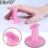 Elite99 Rosa Cor Prego Dedo Titular 1 Peça Finger Bracket Nail Art Dedo Suporte Prego Ferramenta de Formulário Manicure Acessórios Ferramentas