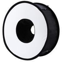 Lightdow 45cm anel dobrável speedlite flash difuser macro shoot Softbox para Canon Nikon Sony Pentax Godox Speedlight