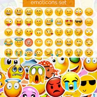 50 PCS Emoji Sticker Smiley Child Toys Anime Waterproof Home...