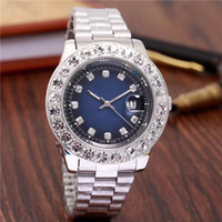 relogio Luxury Mens Brand Men Watch Big Diamonds Day- Date Br...