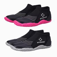 3MM Zapatos de neopreno Natación Zapatos de buceo Nadar en la playa Aguas termales Surf Vela Snorkel Zapatillas de buceo