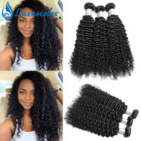 Brazilian Human Hair Kinky Curly Hair Bundles Malaysian Peru...