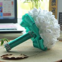 Nane El Yapımı Nedime Düğün Dekorasyon Köpük Çiçekler Gül Gelin Bridemaid Düğün Buket Saten Romantik Düğün Buket CPA1580