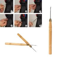 Tissage Latch Hook Aiguille Dreadlock Crochet Cousez une aiguille de cheveux pour micro tresses OUTILS #Y