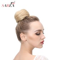 SARLA 1PC Synthetic Hair Chignon Resist High Temperature Rin...