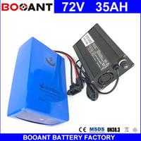 BOOANT E-Bike Li-Ion Pil paketi Bafang için 72 V 35AH 3000 W Motor Elektrikli Bisiklet Pil 72 V 20 S 14 P Pil paketi + 5A Şarj