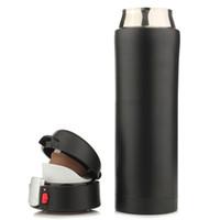 500 ml Taza de viaje Té Café Agua Taza de vacío Termo Botella Acero inoxidable Negro Botella de agua termo