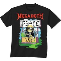 Camisas de diseñador Short Fashion Mens Megadeth Peace 25 Centavos Graphic Printed Design Tee Camiseta Black Men Summer O-Neck Tee Shirt