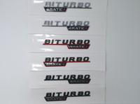 1 пара матовый черный хром турбо 4MATIC Biturbo 4matic + эмблема бейджер крыло надстройка логотипа стикер стайлинга автомобилей для Mercedes Benz