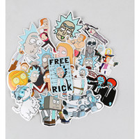 35Pcs / set Drama Rick And Morty Stickers Decal per Laptop Laptop Snowboard Bagagli auto per Notebook per auto moto Notebook bicicletta