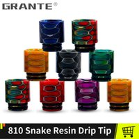 Grante 810 Drip Tip Snake Resgn Fit TFV12 Prince TFV8 Big Baby X BABY Tank 810 Atomizzatore Boccaglio Drip Tip 810 Vape Tanks