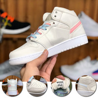 New arrival 1s basketball shoes mens women NRG UNC white Chi...