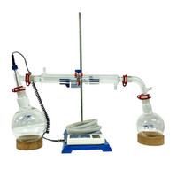 ZZKD Nova América Do Norte Quente vendedor Equipamentos de Purificação Top 1L Fácil Destilação Intervalo Curto Contém Termômetro Inteligente