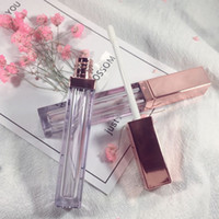 4ml lip gloss bottle with rose gold cap, empty lipgloss tube...